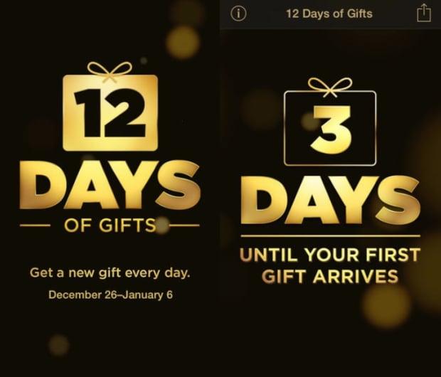 Apple: 12 dni prezentów ios