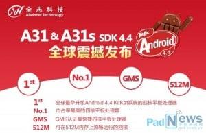 Tabletowo.pl Oficjalna aktualizacja Androida 4.4.1 dla chipów Allwinner A31/A31s już jest Nowości