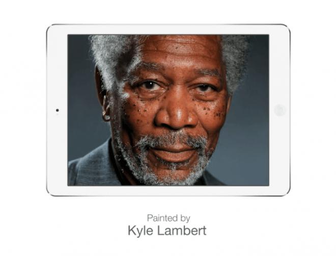 Niesamowity portret Morgana Freemana - szczyt możliwości  iPada Air?