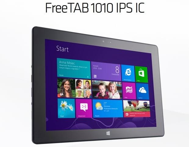 Tabletowo.pl Modecom FreeTab 1010 IPS IC - pierwszy tablet Modecom z Windows 8. Za 999 złotych! Nowości