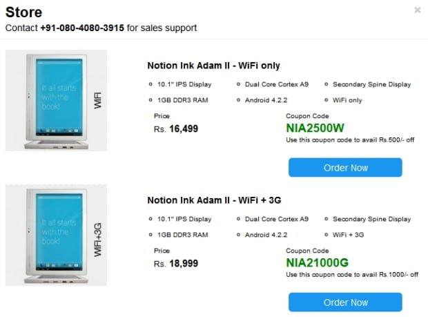 Tabletowo.pl Notion Ink Adam II z dwoma ekranami wreszcie w sprzedaży. Póki co jedynie w Indiach Ciekawostki Nowości