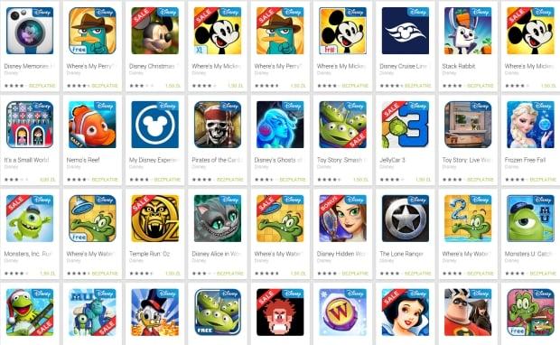 Tabletowo.pl Wszystkie płatne aplikacje i gry Disney na Androida za 1,50 złotych Aplikacje Nowości