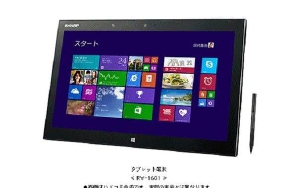 Tabletowo.pl Sharp RW-16G1 z 15,6-calowy ekranem IGZO 3200 x 1800 pikseli Ciekawostki Nowości
