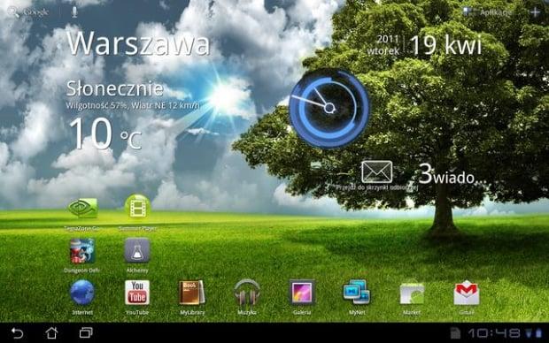 Android 3.0 wręcz emanował futurystycznym designem na tle konkurencji