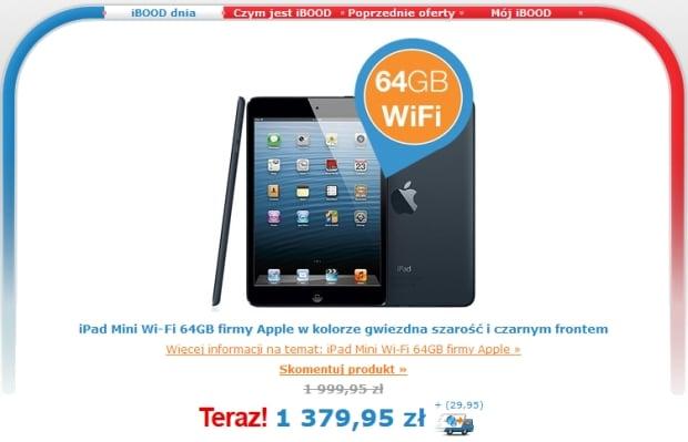 Promocja: iPad mini 64GB WiFi w dobrej cenie - za 1410 złotych na IBOOD