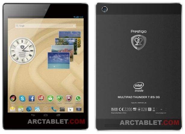 Tabletowo.pl Prestigio Multipad Thunder 7.85i 3G będzie pierwszym 7,85-calowym tabletem z procesorem Intela i 3G? Nowości Plotki / Przecieki