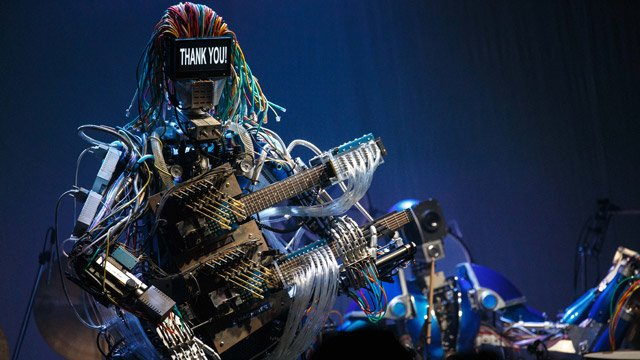 Z-Machines robot band on stage in Tokyo