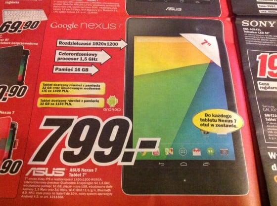 Promocja: Nexus 7 2013 16GB WiFi z etui za 799 złotych