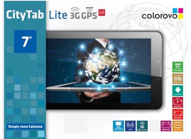 """Tabletowo.pl Colorovo CityTab Lite 7"""" 3G GPS 2.0 z możliwością dzwonienia za 449 złotych Nowości"""