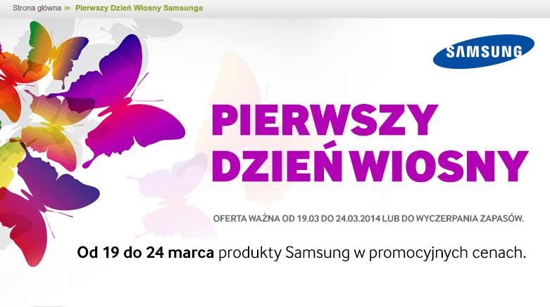 Tabletowo.pl Promocja: tańsze urządzenia Samsunga z okazji dnia wiosny w sklepach Sferis i Euro [AKTUALIZACJA] Nowości Promocje