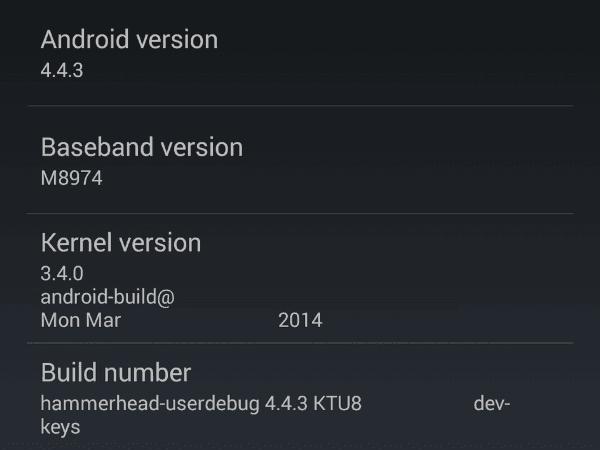 Wyciekły pierwsze informacje o zawartości aktualizacji KitKat 4.4.3