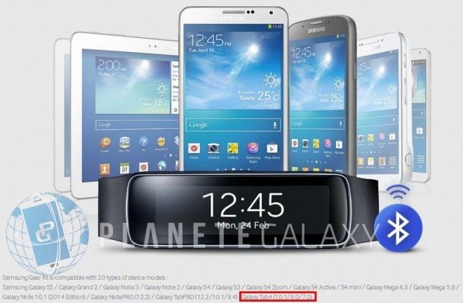 """Tabletowo.pl Samsung """"przypadkiem"""" potwierdza nadchodzącą premierę serii Galaxy Tab 4. Dzięki Gear Fit Nowości Plotki / Przecieki Samsung"""
