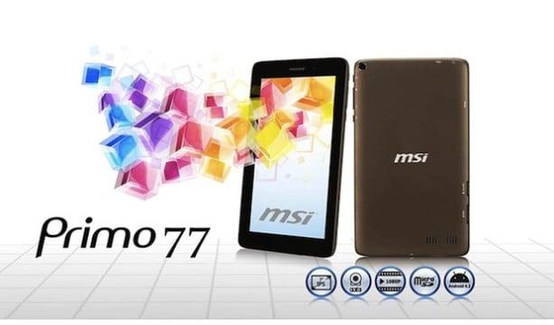 Tabletowo.pl MSI Primo 77: dwa rdzenie, 3G i Android 4.2 za 170 dolarów Ciekawostki Nowości