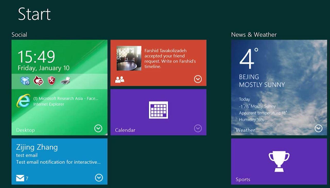 Microsoft zamierza usprawnić kafelki w Windows 25