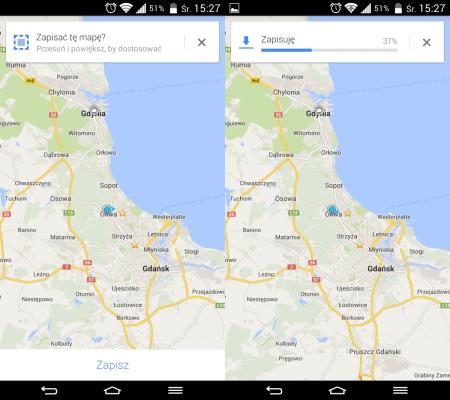 mapy google offlline