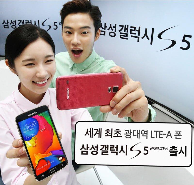 Tabletowo.pl Samsung S5 LTE-A z ekranem QHD i Snapdragonem 805 pokazany w Korei! Android Nowości Samsung Smartfony