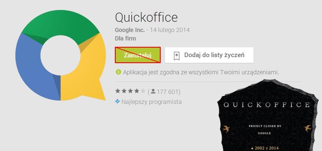 Tabletowo.pl Quickoffice po 12 latach odchodzi do lamusa Aplikacje Google Nowości