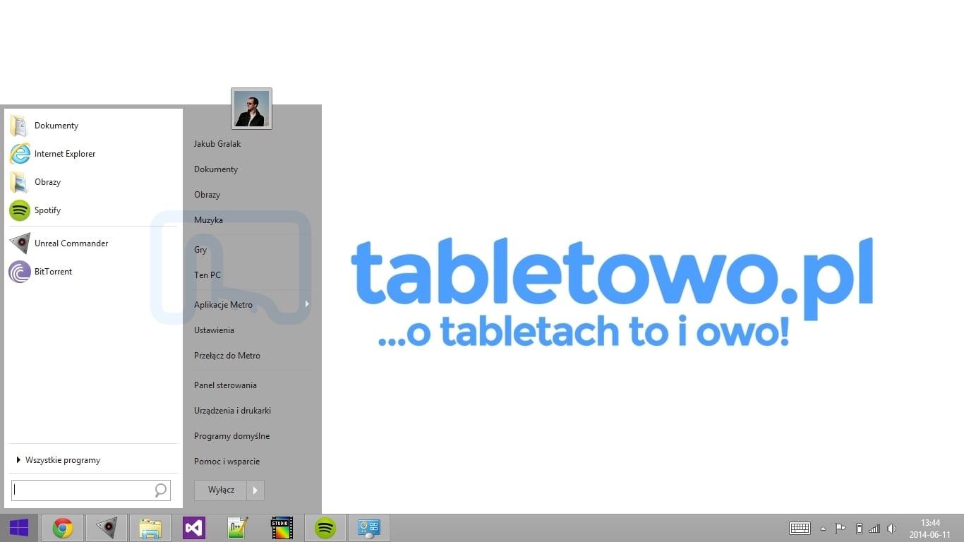 Dla przeciwników kafelków w systemie Windows - program Start Menu 8 20
