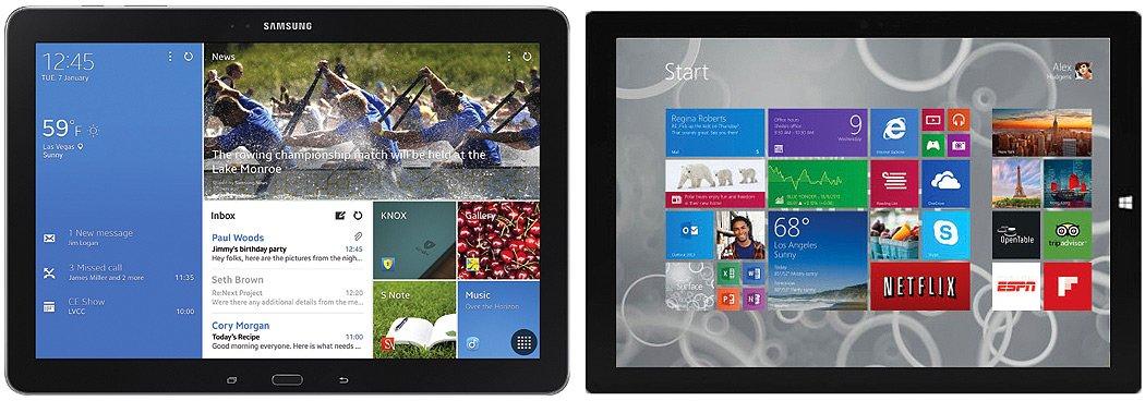 Tabletowo.pl Pojedynek dwóch tabletów 12 cali - Samsung Galaxy Note Pro 12.2 kontra Surface Pro 3 Android Google Microsoft Opinie Tablety