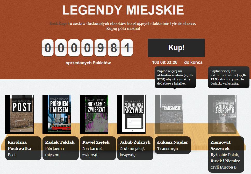 Tabletowo.pl Legendy miejskie w kolejnym BookRage'u Książki Nowości