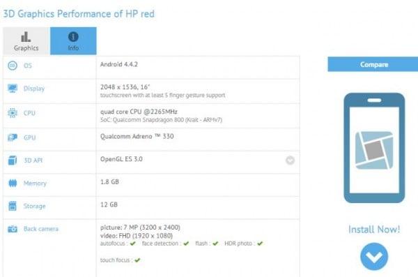Tabletowo.pl HP Red to 16-calowy tablet z mocną specyfikacją Android HP Plotki / Przecieki Tablety