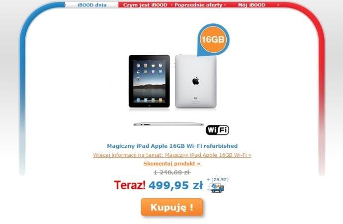"""Tabletowo.pl """"Magiczny"""" iPad pierwszej generacji (refurb) za 500 złotych Apple iOS Promocje Tablety"""