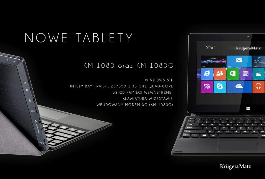 Tabletowo.pl Krüger&Matz wkracza w świat Windows - tablety KM 1080 i 1080G Chińskie Hybrydy Nowości Sprzęt