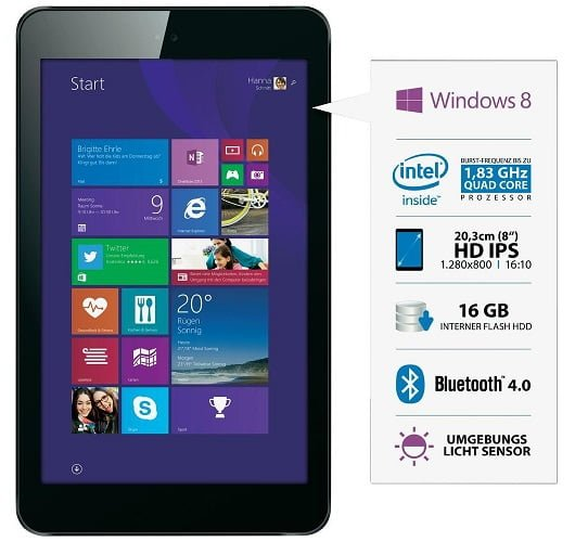 Tabletowo.pl Odys WinTab 8 - tablet z Windows 8.1 za 170 euro Tablety Windows