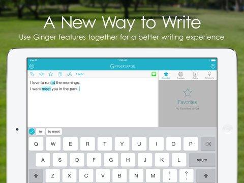 Tabletowo.pl Ginger Page 2.0 - korekta angielskich tekstów w wersji na iPada Aplikacje Nowości Recenzje