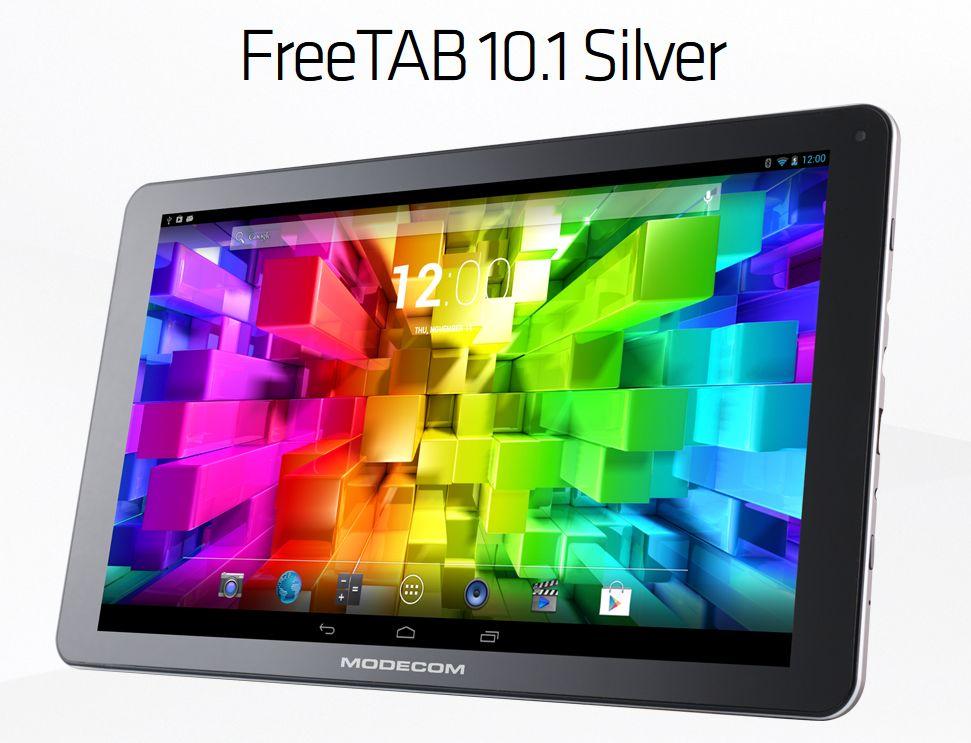 Tabletowo.pl Modecom FreeTab 10.1 Silver z niskiej półki, ale z Androidem KitKat Nowości