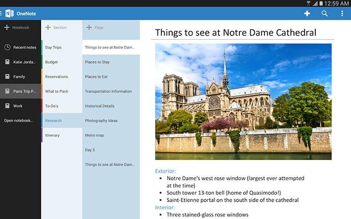 Tabletowo.pl Tablety z Androidem dostały dedykowanego OneNote'a Aktualizacje Android Microsoft