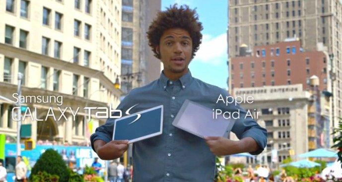 Tabletowo.pl Samsung Galaxy Tab S kontra iPad Air w reklamie Android Apple iOS Samsung Tablety