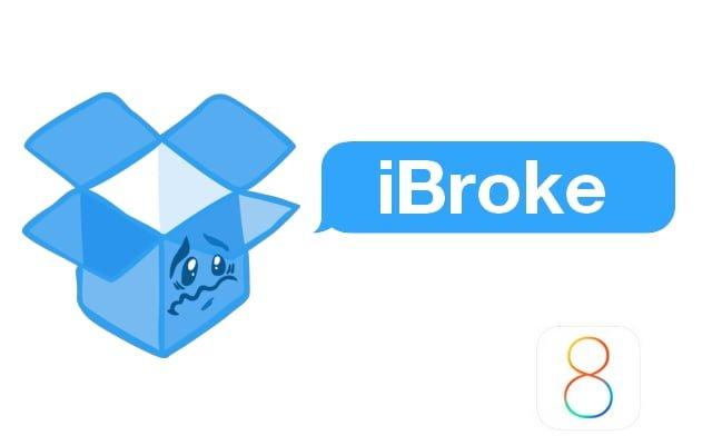 Problemy z kompatybilnością aplikacji Dropbox na iOS 8 32