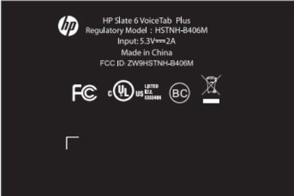 Tabletowo.pl HP Slate 6 VoiceTab Plus z LTE dostrzeżony w FCC Android HP Plotki / Przecieki Tablety