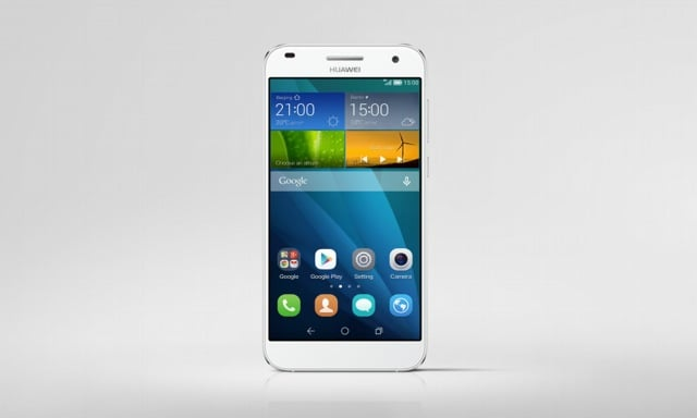 Huawei Ascend G7_Single_Silver Front Face_Hi res