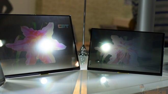 Tabletowo.pl Przeźroczyste ekrany oficjalnie pokazane na targach Expo 2014 na Tajwanie Smartfony Tablety Technologie