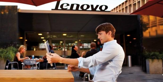 Tabletowo.pl Kim jest Ashton Kutcher dla Lenovo i linii tabletów Yoga? Lenovo Opinie Sylwetka Postaci Tablety