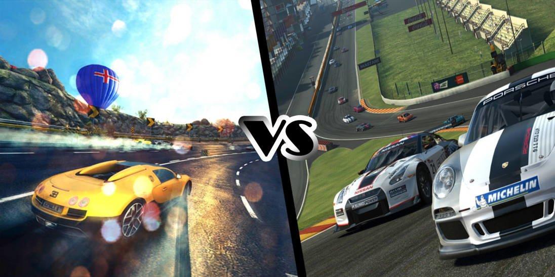Tabletowo.pl Pojedynek Gier: Asphalt 8 vs Real Racing 3 Android Gry iOS Porównania