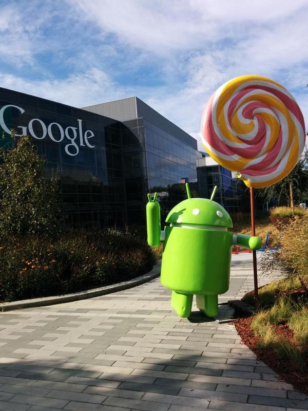 A tak wygląda posąg Androida Lollipop 17