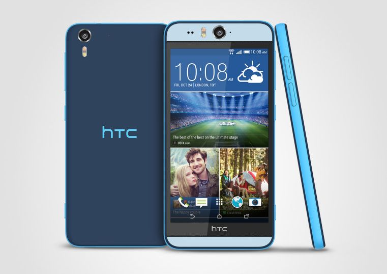 """Tabletowo.pl HTC Desire Eye - wodoodporny i dwukolorowy """"selfiefon"""" z kamerką 13 Mpix i podwójną diodą LED Android HTC Nowości Smartfony"""