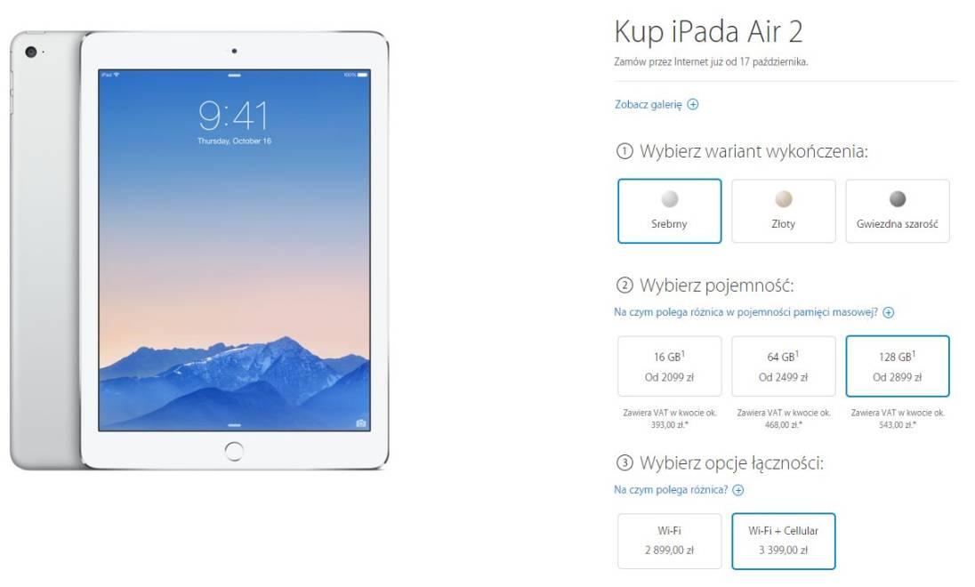 Tabletowo.pl Polskie ceny iPada Air 2 i iPada mini 3 Apple iOS Tablety