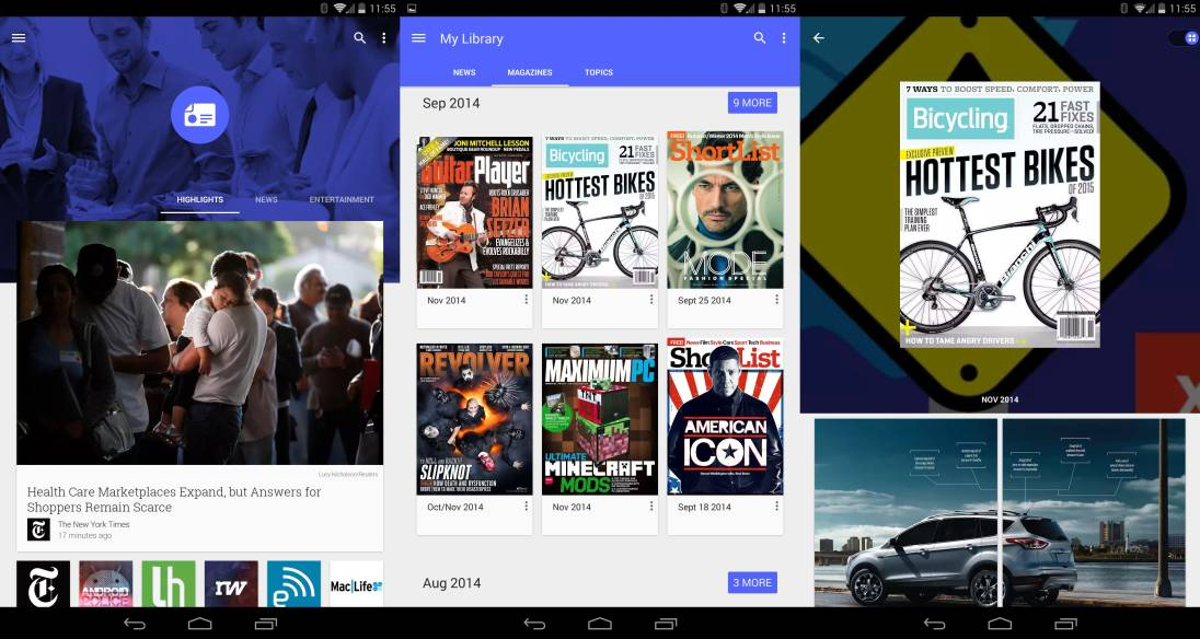 Tabletowo.pl Kiosk Google zaktualizowany do Material Design Aktualizacje Android Aplikacje Google Nowości