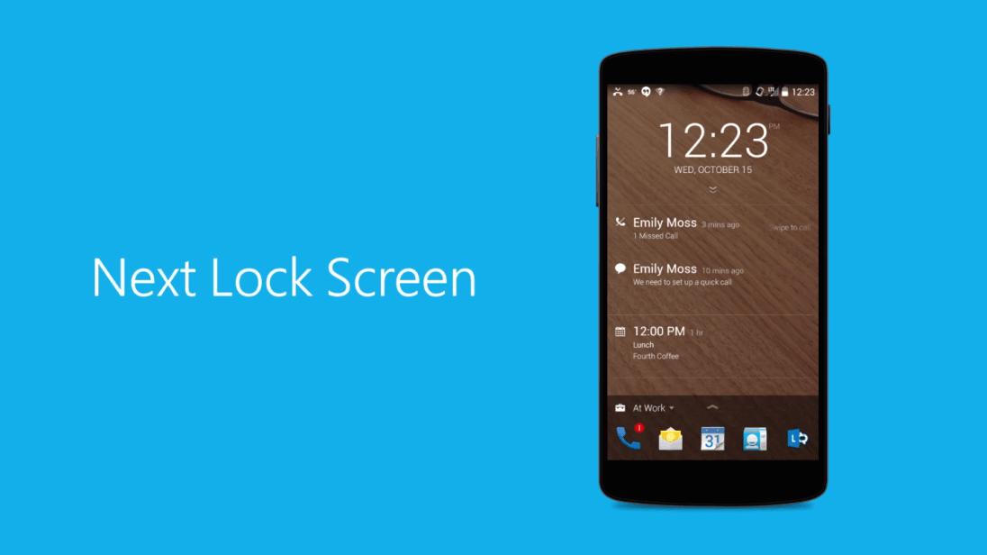 Tabletowo.pl Oto ekran blokady dla Androida od Microsoftu - Next Lock Screen Android Aplikacje Microsoft Nowości