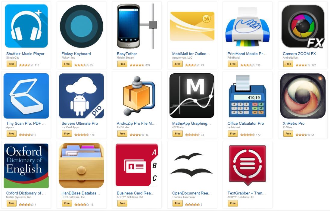 Aplikacje użytkowe o wartości 100 dolarów za darmo od Amazona!
