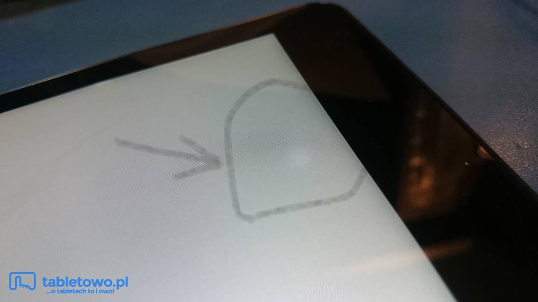 Dell Venue 8 Pro - nierówne podświetlenie matrycy