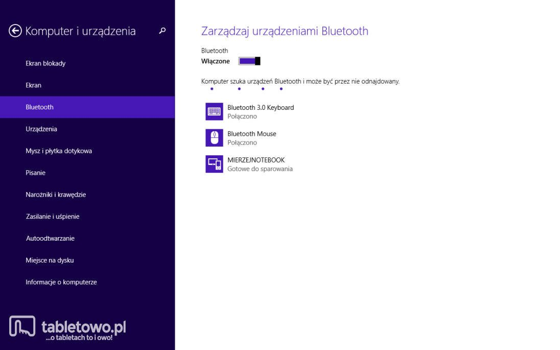 Dell Venue 8 Pro - Urządzenia bluetooth