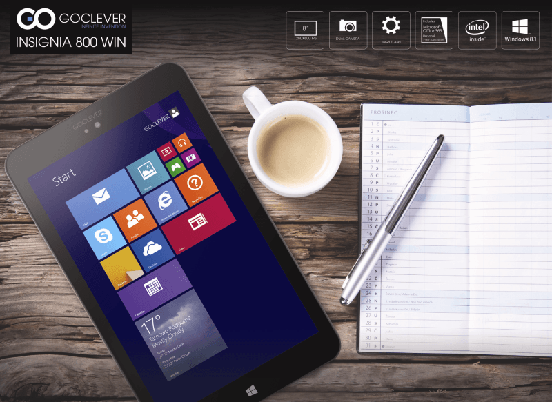 Dwa nowe tablety od GOCLEVER z Windows 8.1- Insignia 800 WIN oraz Insignia 1010 WIN 20