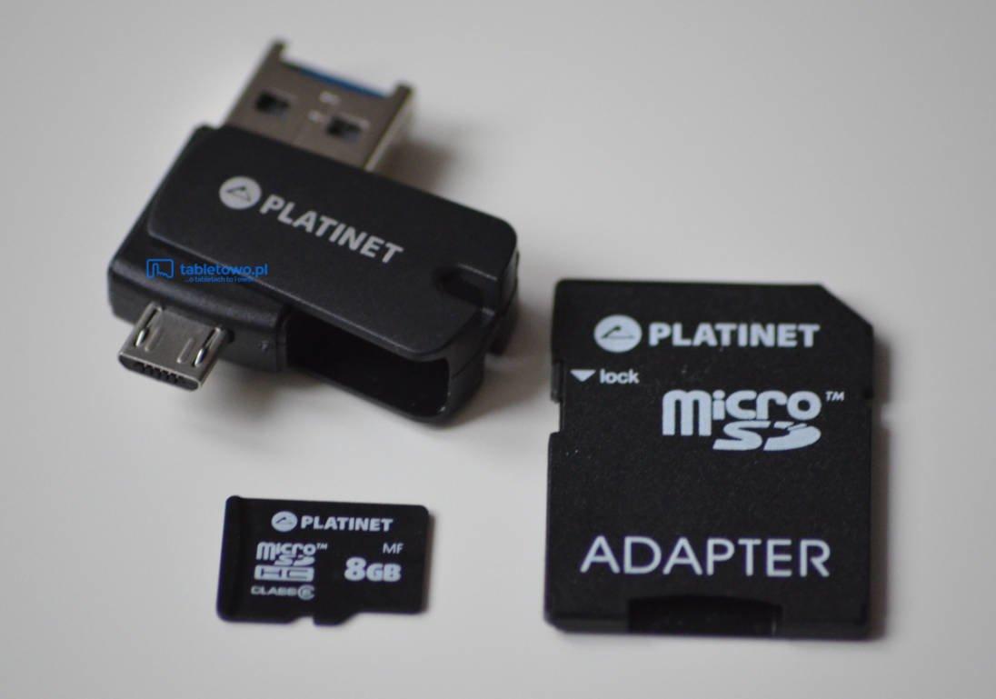 Tabletowo.pl Recenzja Platinet 4w1 PMMSD8CR4 - karty pamięci z adapterem SD, portem USB i microUSB Akcesoria Recenzje