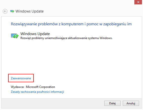 windows 8 problem z aktualizacja