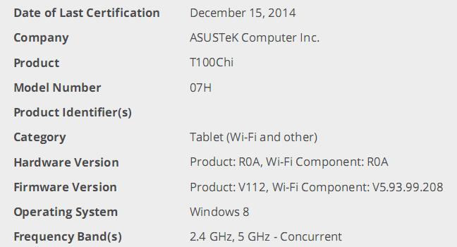 Tabletowo.pl Asus T100 Chi (07H) będzie bardzo cienką hybrydą z 3G za 700 dolarów? Asus Hybrydy Plotki / Przecieki Windows